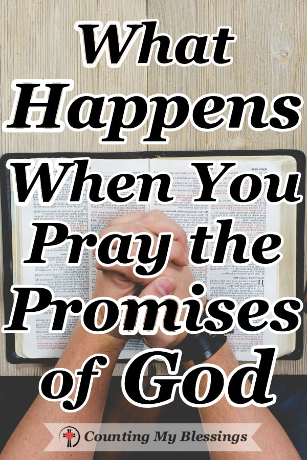God promised to give us everything we need for whatever we're living through. So, when I don't have the words ... I pray the promises of God. #Prayer #Faith #PromisesofGod #Hope