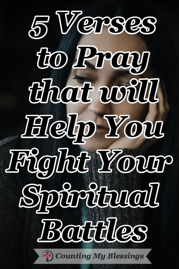 Praying God's Word and asking Him to give you everything you need to be equipped and prepared to fight your spiritual battles with courage and faith. #Prayer #Faith #SpiritualWarfare #Blessings