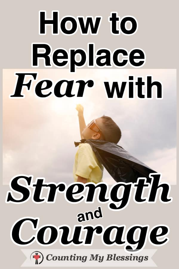 When we take our fear to God, He does not give us a magical infusion of strength and courage that lasts forever ... but He does give enough for this moment and that's all we need. #Courageous #Strong #LivewithHope #CountingMyBlessings #FaithOverFear #WWGGG