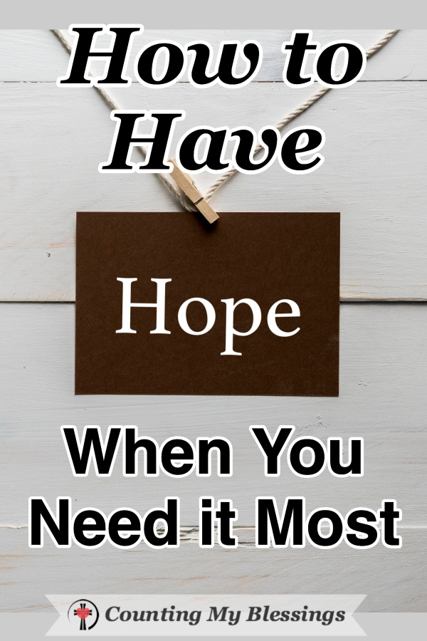"We all need to have hope. Not ""pie in the sky by and by"" unrealistic optimism but a realistic view of the current situation with the belief that it too, with God's help, will pass. #HopeQuotes #Faith #BiblePromises #BibleStudy #WWGGG #CountingMyBlessings #HisGraceGirls"