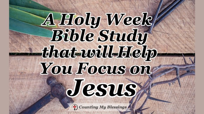 A Holy Week Bible Study for individuals and families - Walk through the Gospels and spend time with Jesus. Questions and prayers to help you experience His love #HolyWeek #Jesus #PassionofChrist #God'sLove #WWGGG #CountingMyBlessings