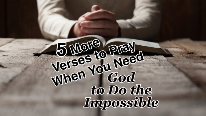 Bible Verses to pray when problems are overwhelming. I'm not only asking God to do the impossible … I'm believing that He CAN DO the IMPOSSIBLE! #Prayer #Faith #WarRoom #BibleQuotes #CountingMyBlessings #BlessingBloggers #WWGGG