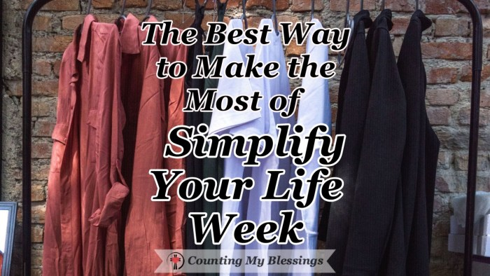 It's Simplify Your Life Week - the perfect time to eliminate the emotional just that weighs you down and keeps you from living the life God wants for you. #SimplifyYourLifeWeek #EmotionalHealth #CountingMyBlessings #WWGGG