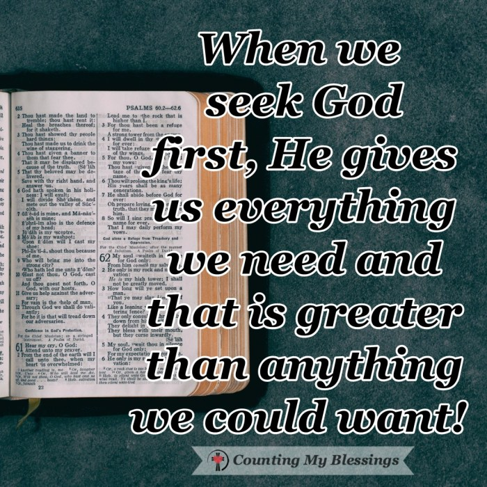 Jesus taught His followers about prayer and the importance of seeking God's first with the promise that if you do . . . He will give you everything you need. #BibleStudy #SeekGodFirst #Prayer #Faith #CountingMyBlessings #WWGGG