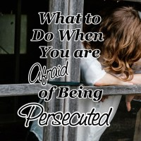 What to Do When You are Afraid of Being Persecuted