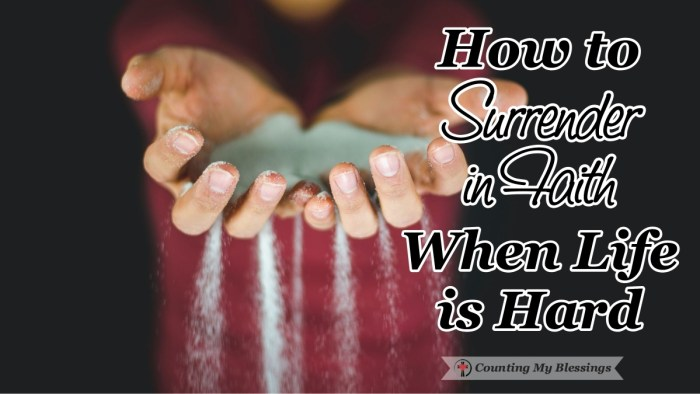 When life is painful it's hard to surrender in faith and trust God's will so we'll look at Jesus' example of as He handed over His will to God's for us. #BibleStudy #God'sWill #Faith #TrustGod #CountingMyBlessings #BlessingBloggers #WWGGG