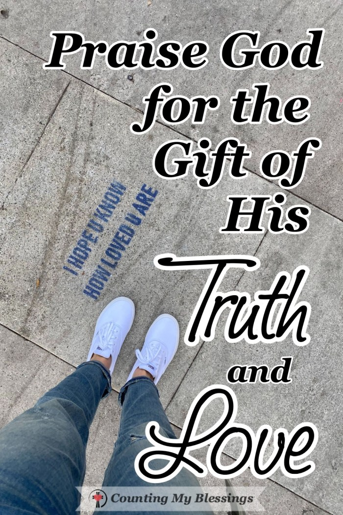 It's important to know God's TRUTH so we can understand His Love and admit our hypocritical sinfulness and our tremendous need for Him. #BibleStudy #LawandGospel #Faith #CountingMyBlessings #BlessingBloggers #WWGGG