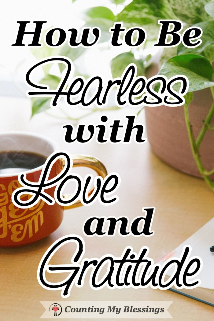 Grief feels an awful lot like fear. When we don't know what the future will be moving forward with love and gratitude is the best way to become fearless. #Fearless #Faith #BibleStudy #Hope #CountingMyBlessings #BlessingBloggers