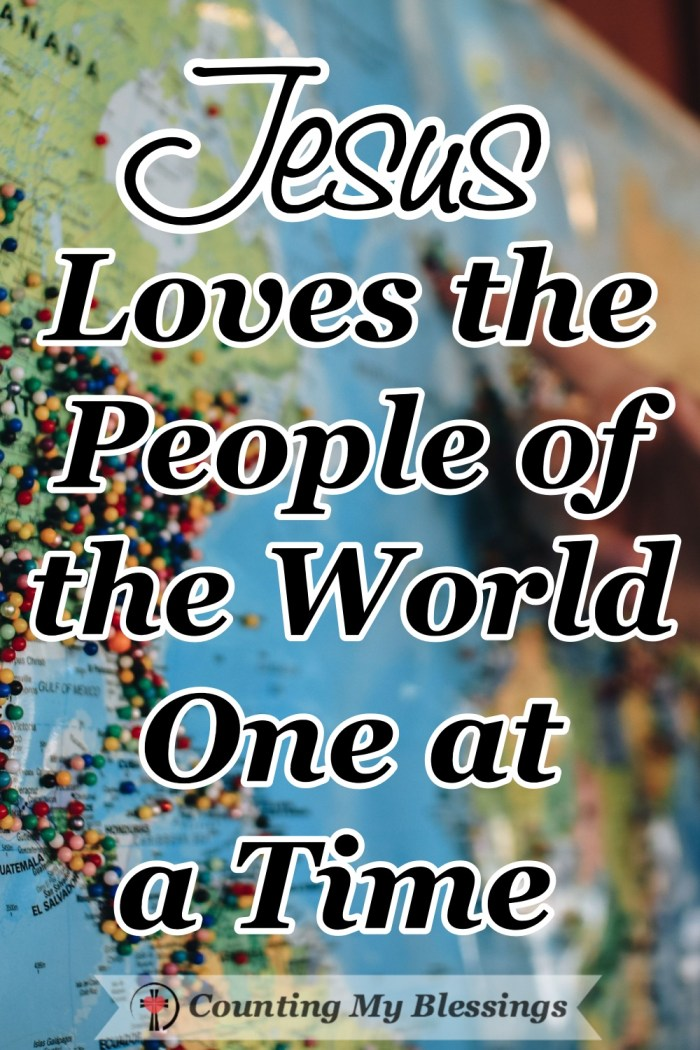 Jesus showed people God's character and love. He reached out and touched them one at a time with care and compassion, forgiveness and healing love. #God'sLove #JesusLovesYou #Blessings #CountingMyBlessings #BlessingBloggers #Faith