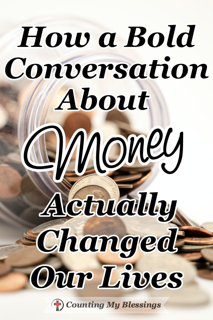 A wise friend once challenged us with a bold conversation about money that changed our lives and turned out to be a blessing full of wisdom. #Stewardship #Money #LoveMoney #CountingMyBlessings #BlessingBloggers
