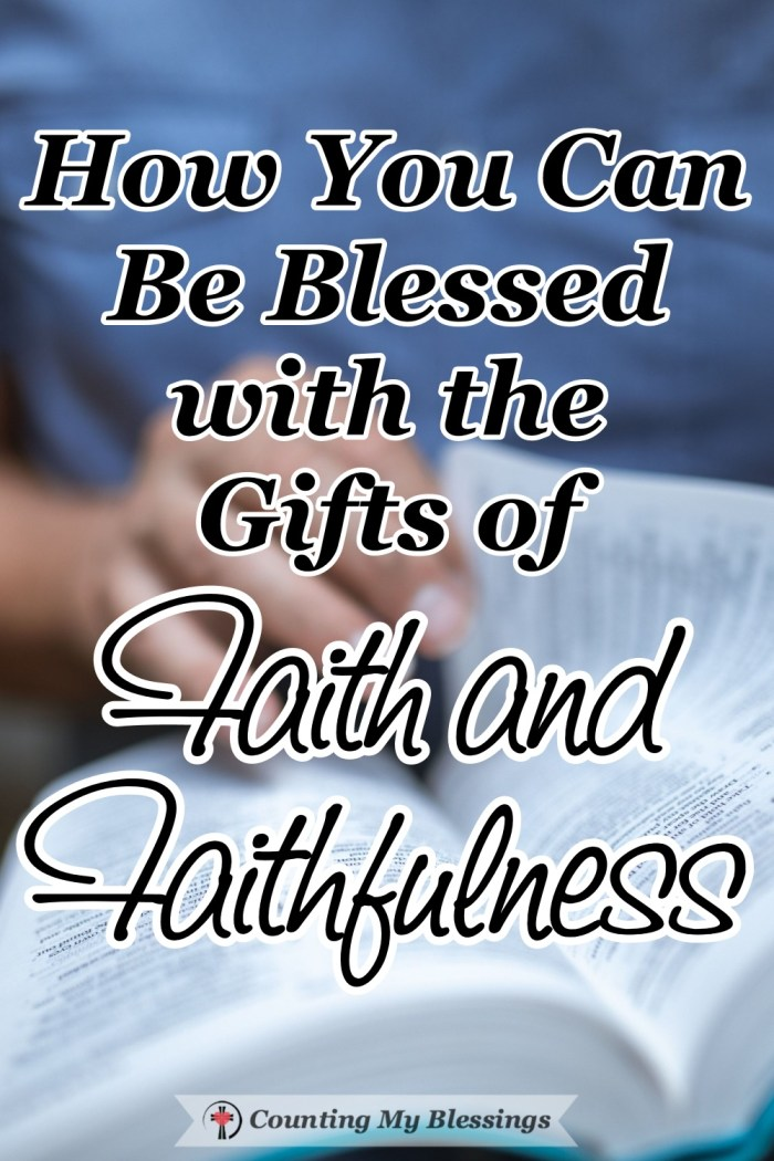 You and I are made right with God through faith in Jesus. And by God's grace faith and faithfulness are gifts that bless us every single day. #Faith #TrustGod #Blessings #CountingMyBlessings