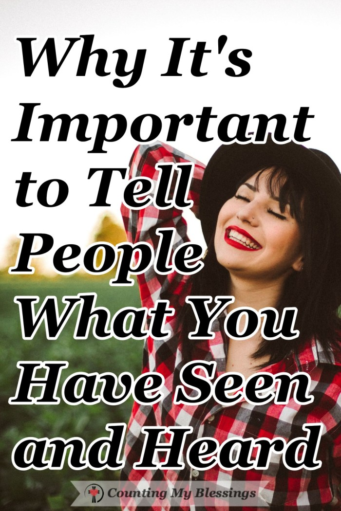 Talking about your faith can be considered controversial which is why the best thing you can do is tell what you have seen and heard about the love of Jesus. #Faith #Goandtell #Jesus #CountingMyBlessings