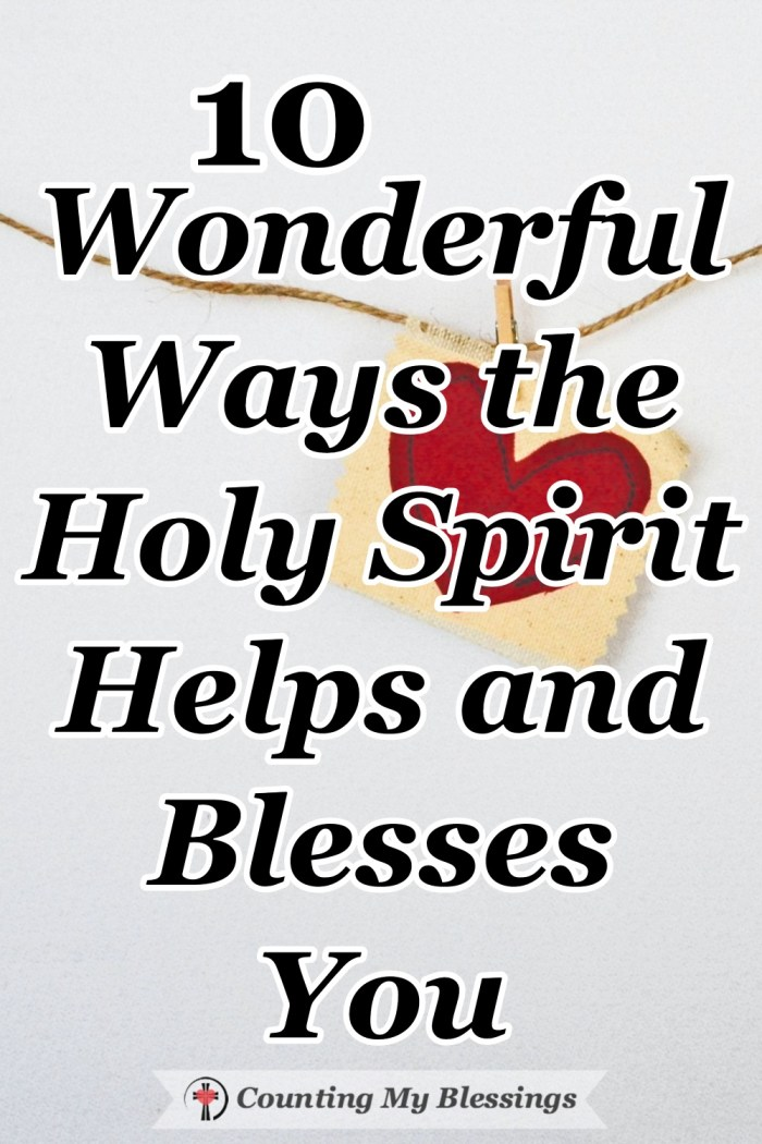 God knew we needed a Savior and He knew we needed an Advocate so He sent Jesus to save and the Holy Spirit to help us. Find out 10 ways He helps here... #HolySpirit #GodLoves #BibleStudy #Possiblities #CountingMyBlessings