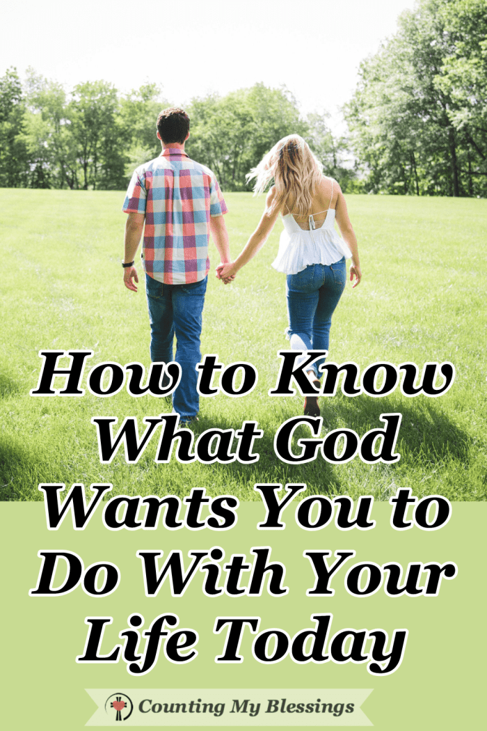 When you don't know what God wants you to do with your life there is a way to move forward in faith trusting Him to guide you with wisdom and love. #Faith #TrustGod #Commandments #Blessings