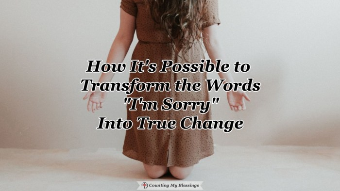 """""""I'm sorry"""" can mean different things to different people. But God invites us to true repentance that leads to the blessing of true change. #ChristianLiving #Faith #Godlovesyou #Blessings"""