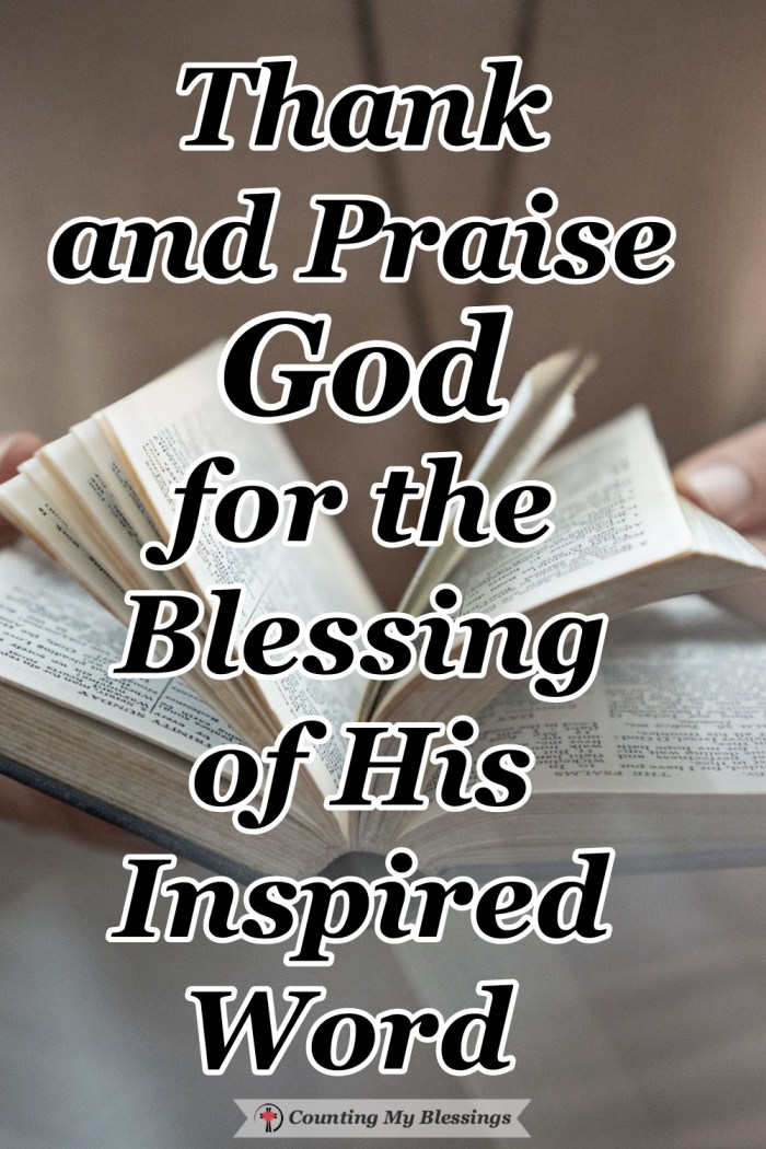 We have been given the inspired Word of God in the Bible. It is the power of God to remove fear, bring peace, and promise the hope of life everlasting. #Jesus #Faith #BibleStudy #Blessings