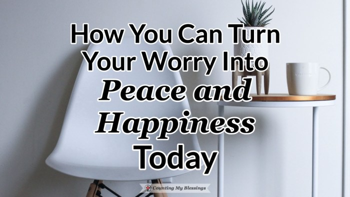 There are so many things to worry about but you don't have to live with anxiety. With God's help, you can turn your worry into peace and happiness. #Don'tworry #Prayer #Blessings #BibleStudy