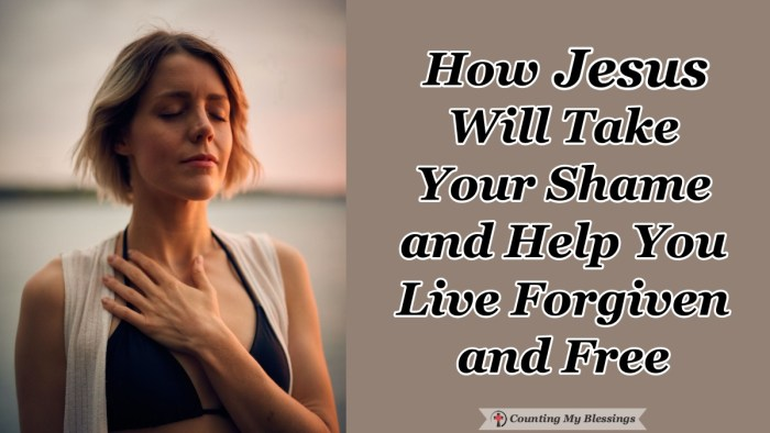 Are you tired of living with the burden of guilt and shame? You don't have to. Right now it is possible for you to live forgiven and free with hope and joy. #Freedom #Jesus #Blessings