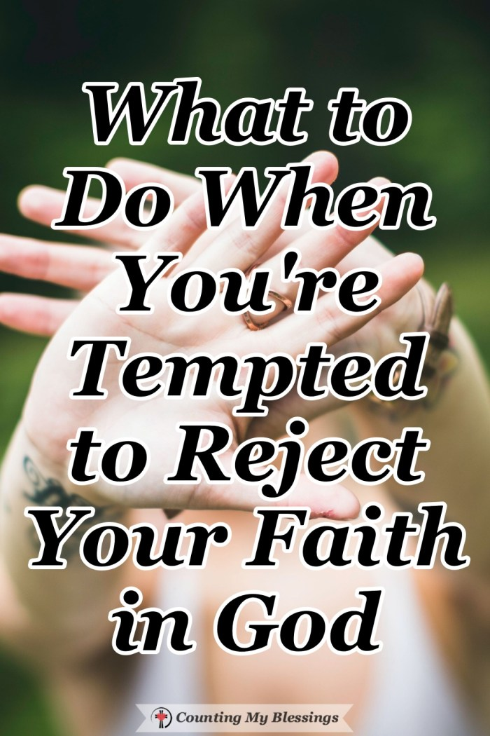 Where do you take your questions and doubts when you're tempted to reject your faith? Here's a closer look at the best place to go with questions about God. #Faith #Doubt #BibleStudy #Blessings