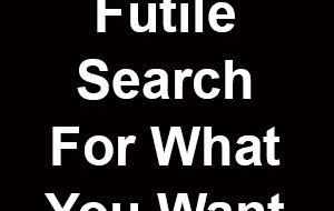Your Pain Comes From a Futile Search For What You Want
