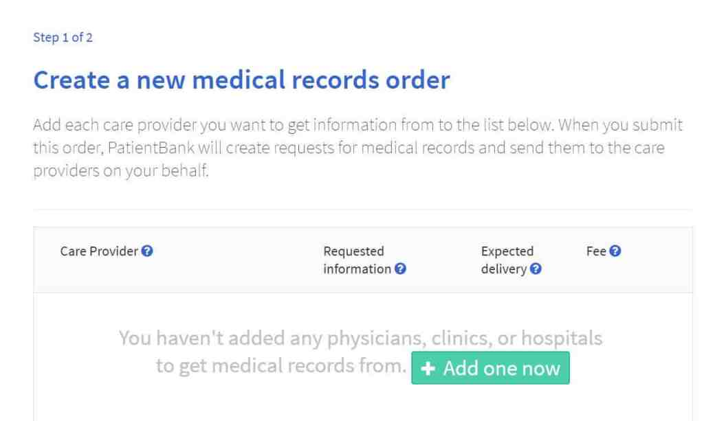 Step 1: Requesting Your Medical Records with PatientBank