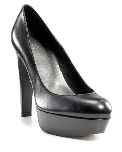 "A great example of a comfortable, work appropriate, platform pump—Stuart Weitzman ""stilts"" platform pump"