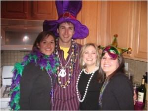 Stephanie, her husband Joey, and friends