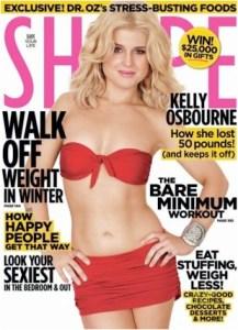 Kelly Osbourne on the cover of Shape Magazine