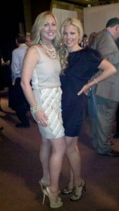 My sister and best friend, Aline and I. One of the benefits of the push-ups are cocktail dress-worthy arms.