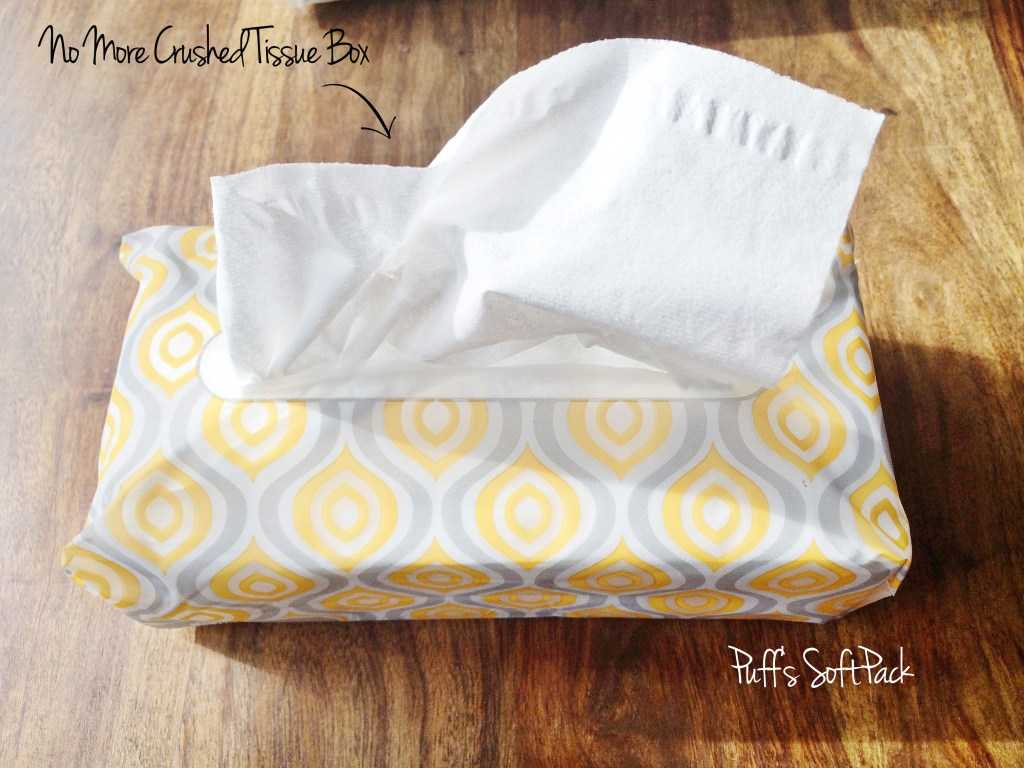 Puffs Softpack is a full sized pack of tissues without the bulky box