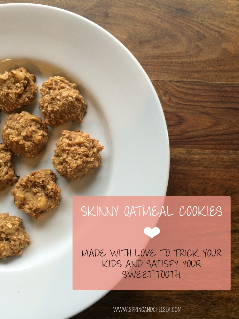 Skinny Healthy Oatmeal Cookies Spring and Chelsea