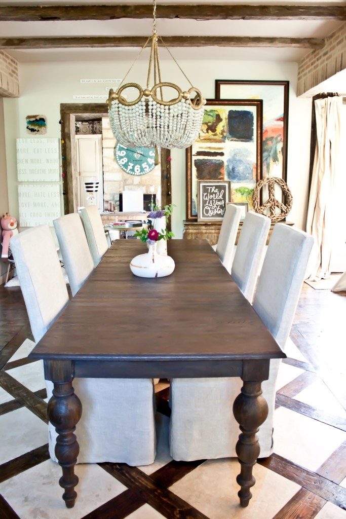 Dining room of interior designer Brittany Ragsdale-Sugg via Count Me Healthy