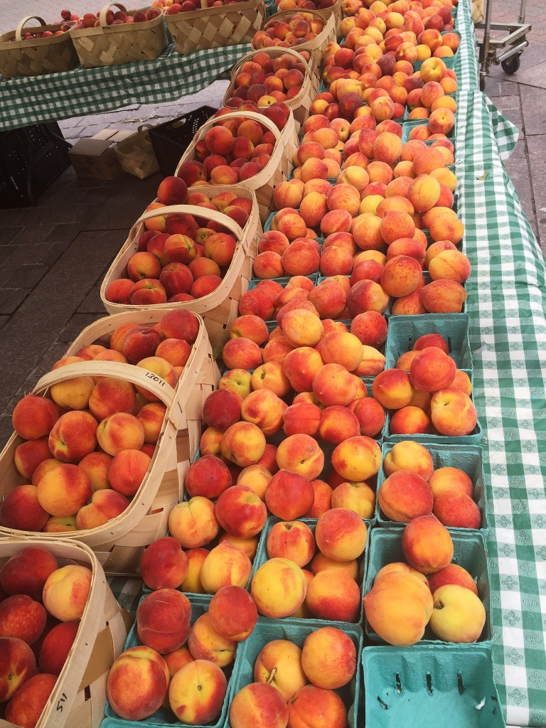 Charlotte bushels of peaches