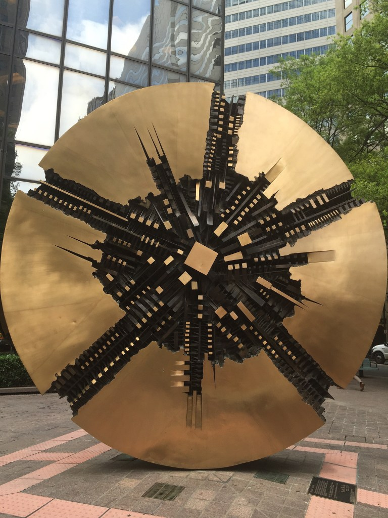 Grande Disco Sculpture Charlotte North Carolina