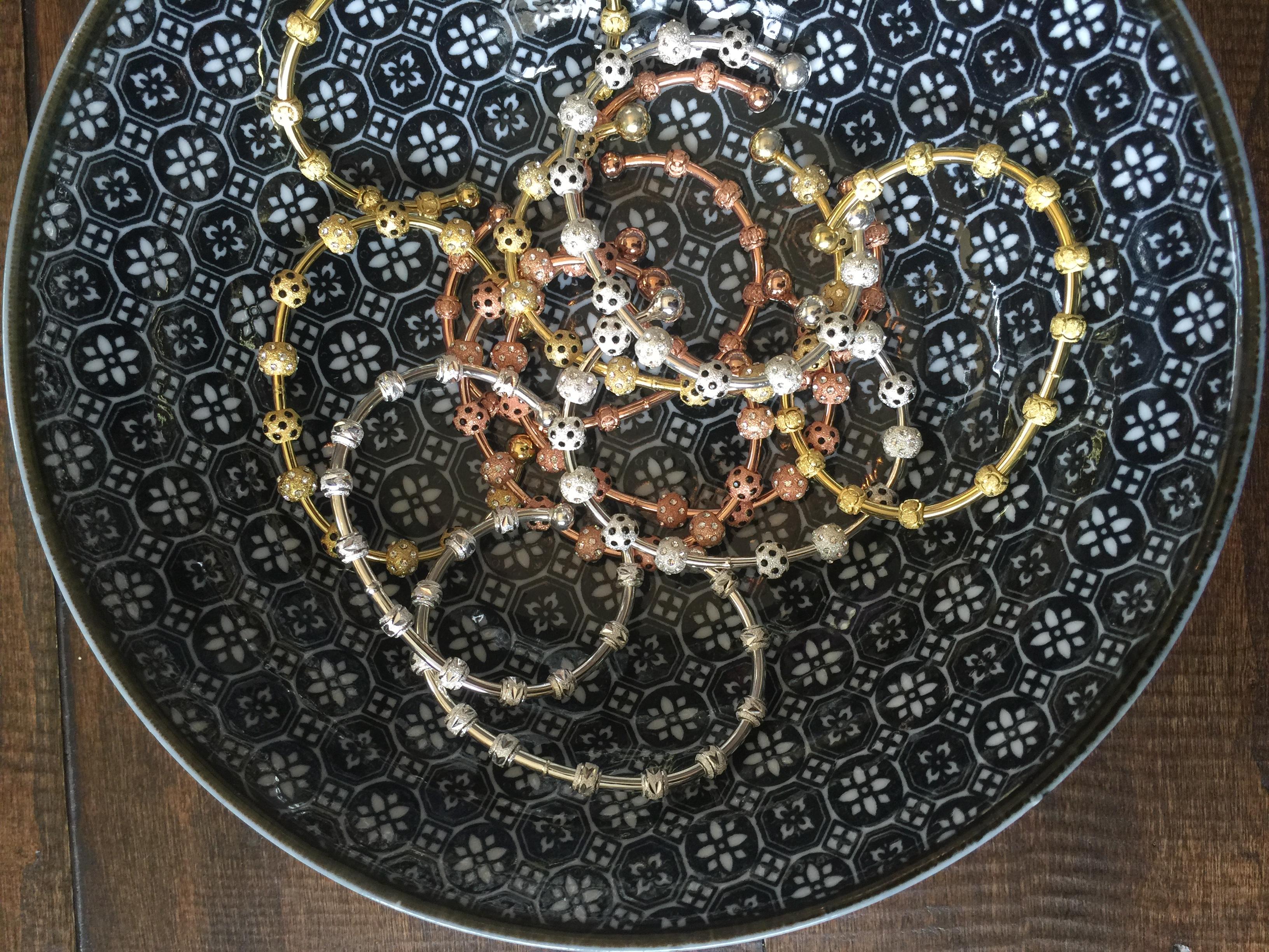 Ladybug Onyx Crystal Count Me Healthy Bracelets