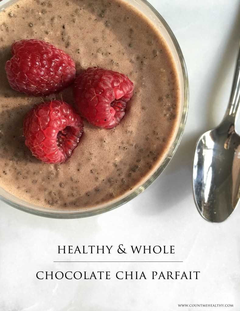 healthy chocolate chia parfait