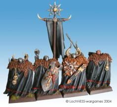 A double line on the back of the champion makes this model stand out from the rear of the unit
