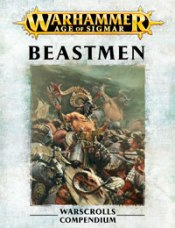Front image of the Warscroll for Warhammer Armies: Beastmen
