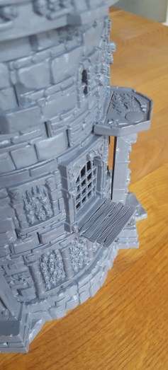 Balconies have no support and are hard to glue in place - Witchfate Tor - Games Workshop