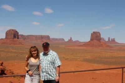 On n'a pas résisté à l'envie de se faire photographier devant ce décor de western !