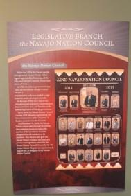 Visitor Center de Monument Valley, explication sur le Conseil de la Nation Navajo