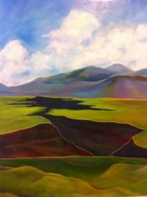 Peinture représentant les gorges du Rio Grande