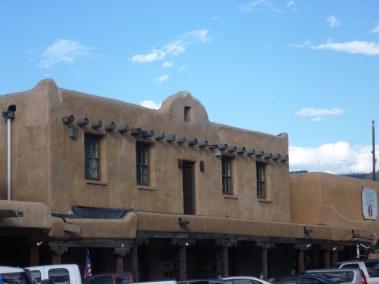 Taos, maison en adobe du centre-ville