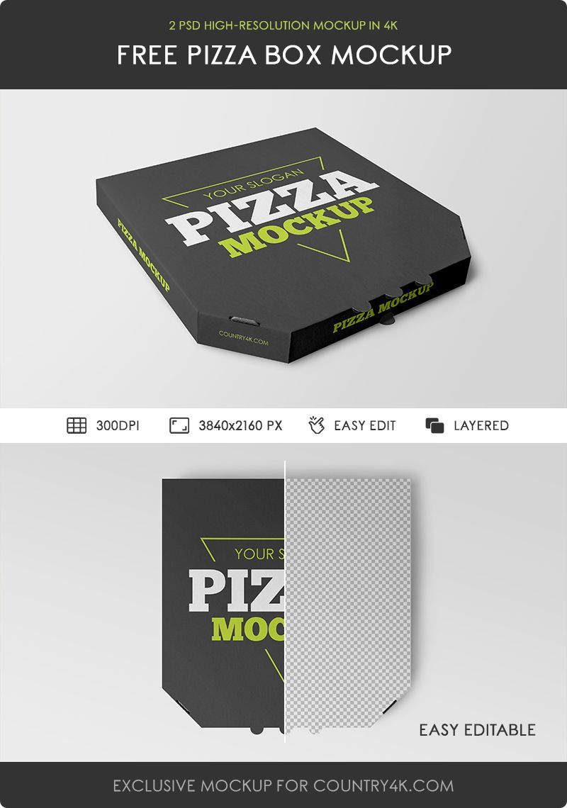 Download 2 Free Pizza Box Mockups - Counrty4k
