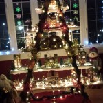 Christmas Tree Decorating Idea Ladder Display Shelf Country Victorian Times