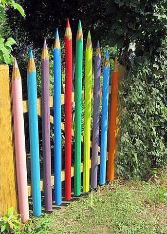 Colored Pencils For A Garden Gate | Country & Victorian Times on Gate Color Ideas  id=70243