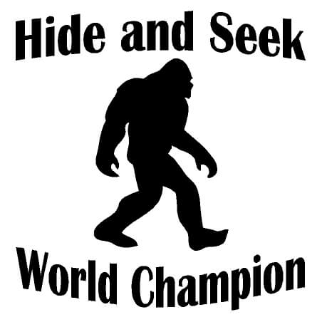 8484760b Bigfoot – Hide and Seek World Champion Vinyl Decal Sticker – Country ...