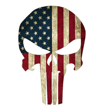 American Flag Punisher Skull Vinyl Decal Sticker Country