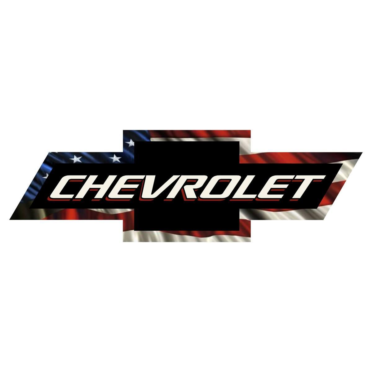 Chevy Bowtie American Flag Vinyl Decal Sticker Chevy