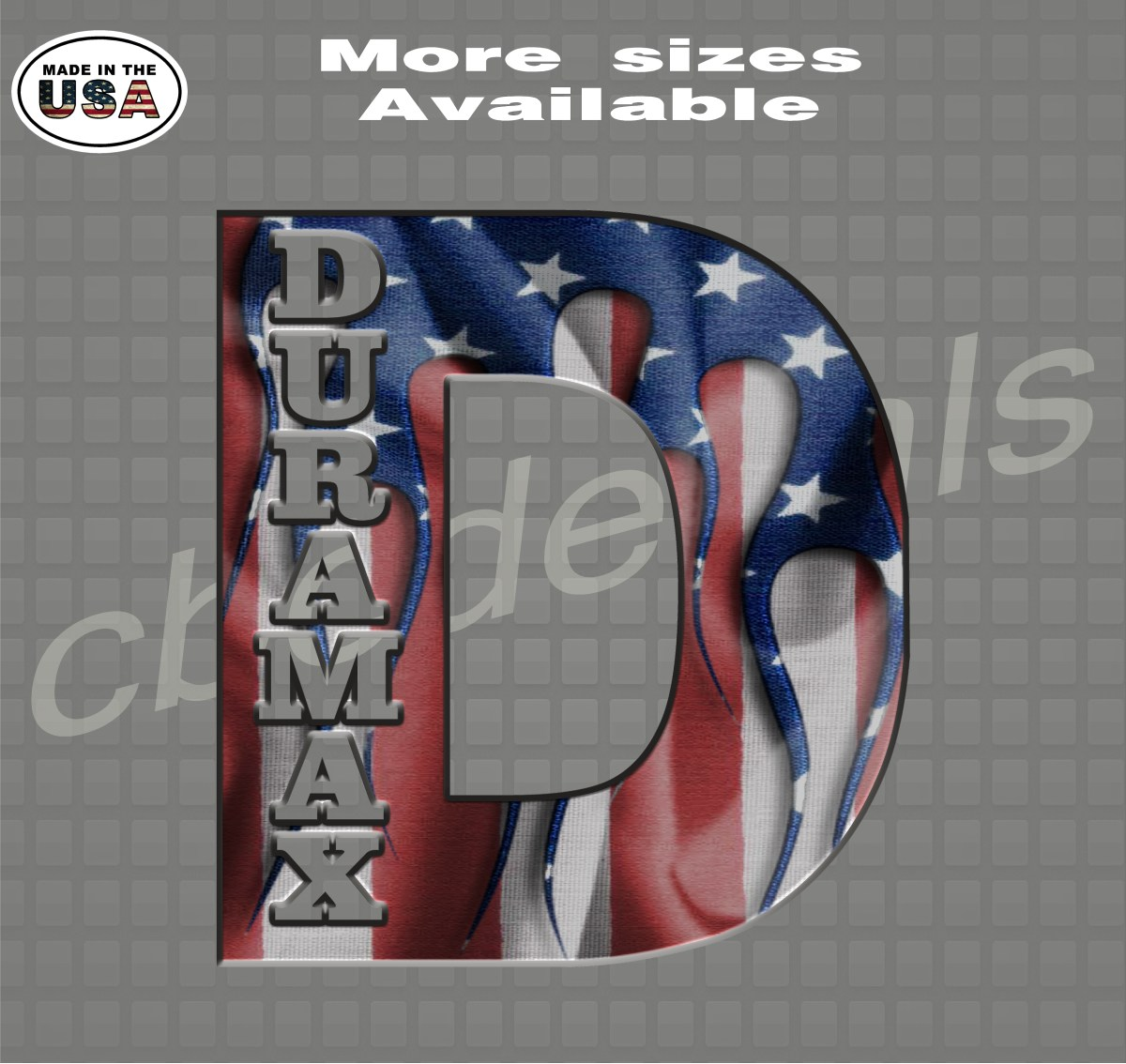 Duramax D American Flag Vinyl Decal Sticker Country Boy